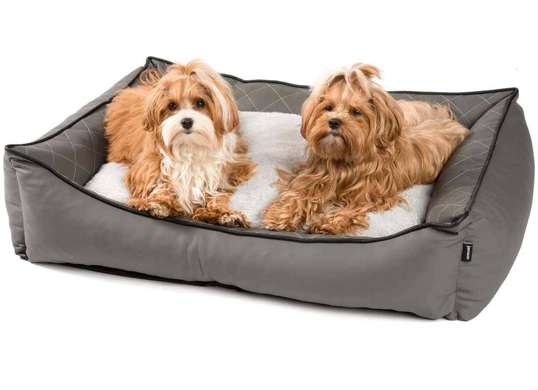 orthopaedisches hundebett aus kunstleder von jamaxx