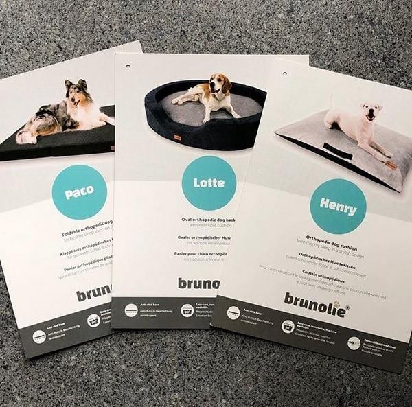 3 neue Modelle an orthopädischen Hundebetten beim Hersteller Brunolie